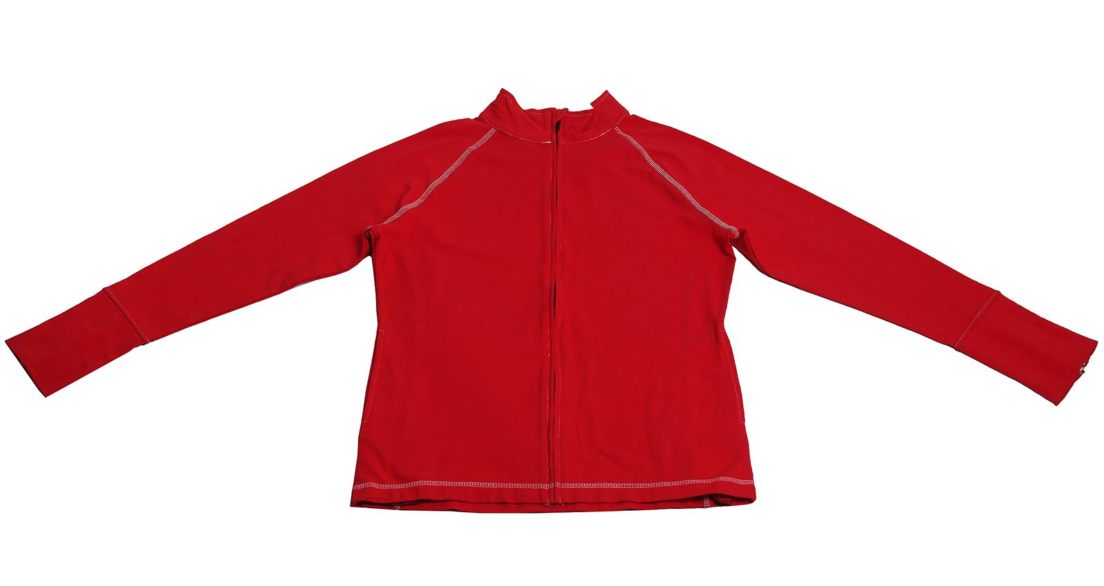 Красная кофточка-толстовка на молнии. То, что нужно на каждый день