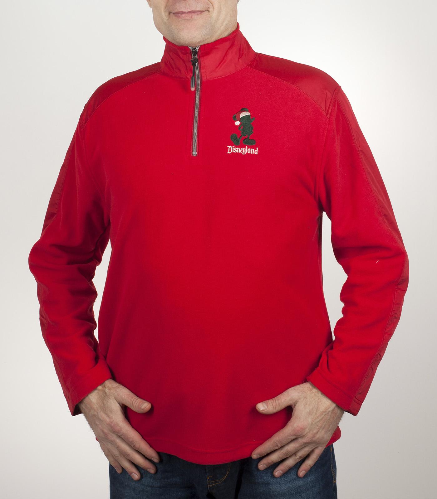 Красная мужская кофта бадлон Disney Parks. Утепленная брендовая вещь на осень-зиму. Усиленные строчки, непродуваемые вставки на спинке и рукавах, адекватная цена