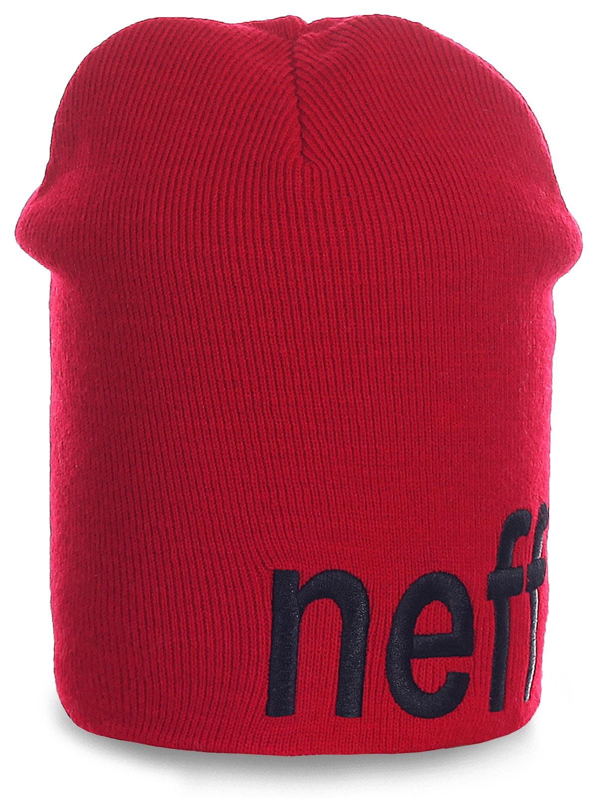Красная мужская шапка Neff. Незаменимый головной убор для спортсменов и не только