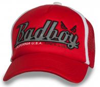 Красная оригинальная бейсболка Bad Boy
