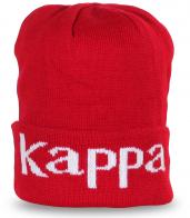 Фирменная шапка Kappa (Италия) ярко-красного цвета – носи с отворотом или собирай на затылке