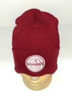 Красная шапка с белой нашивкой