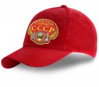 Красная сочная кепка Рожден в СССР - купить оптом