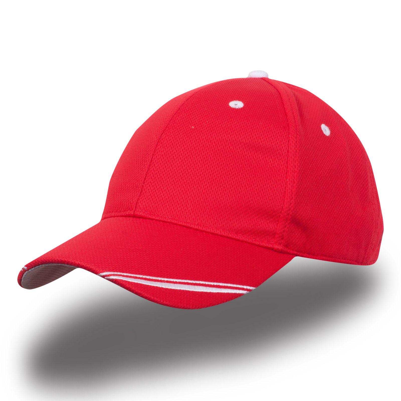 Красная спортивная бейсболка - купить в интернет-магазине с доставкой