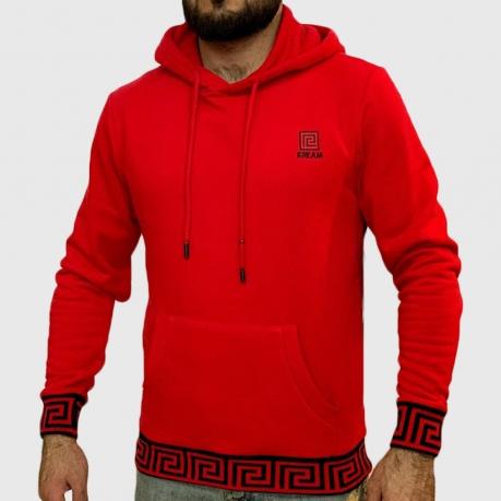 Красная мужская толстовка K.R.E.A.M.