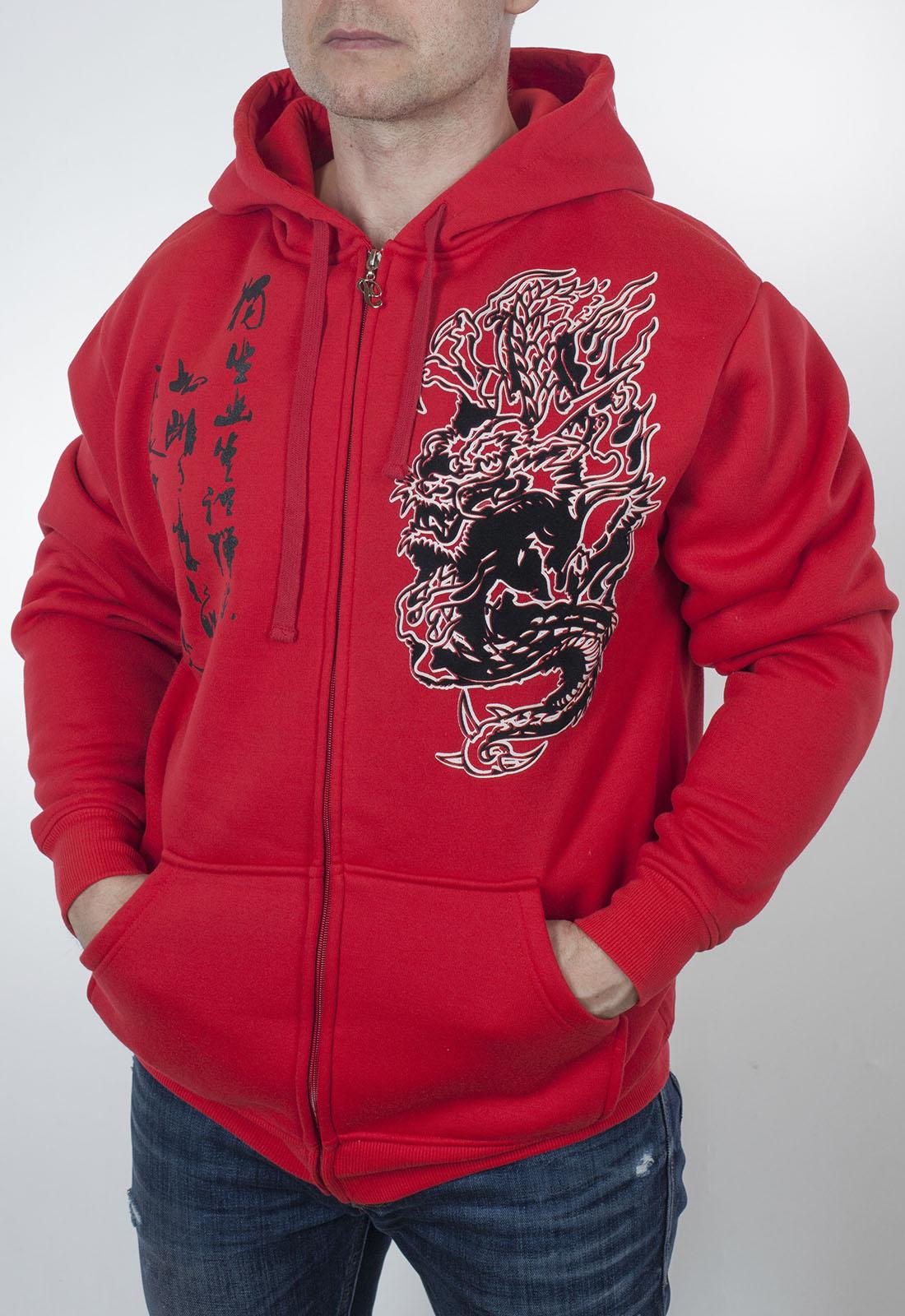 175f27bd Красная молодёжная толстовка Pacific Flyer из плотной теплой ткани.  Недорогая модель с капюшоном, молнией