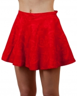 Красная юбка расклешенная