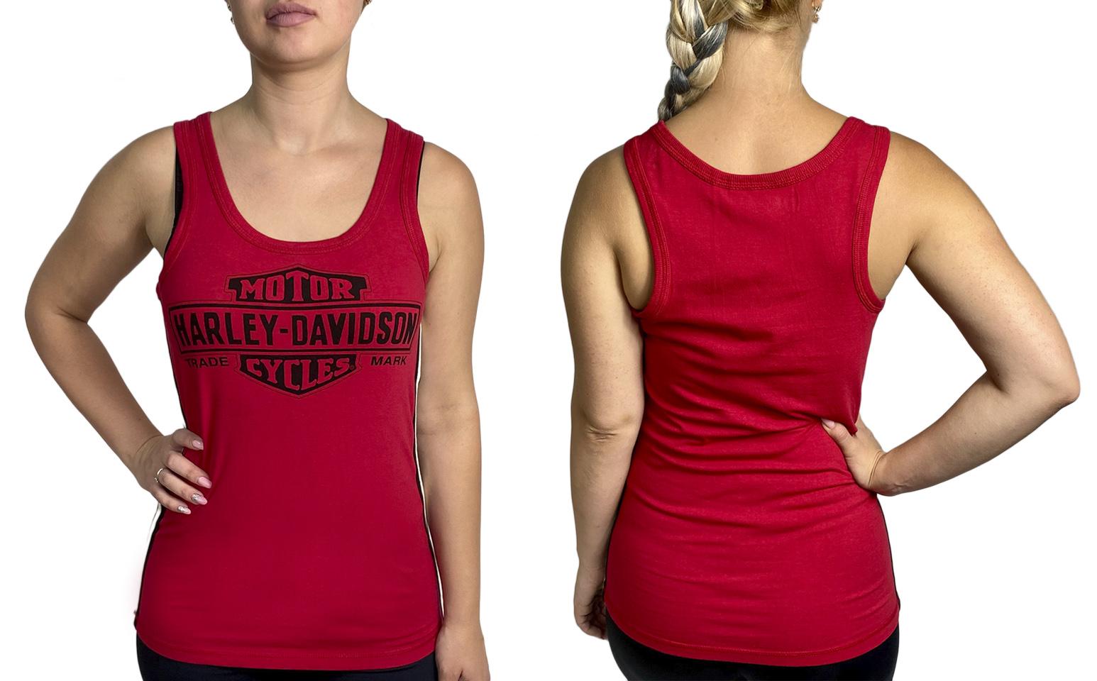 Красная женская майка-борцовка от Harley-Davidson