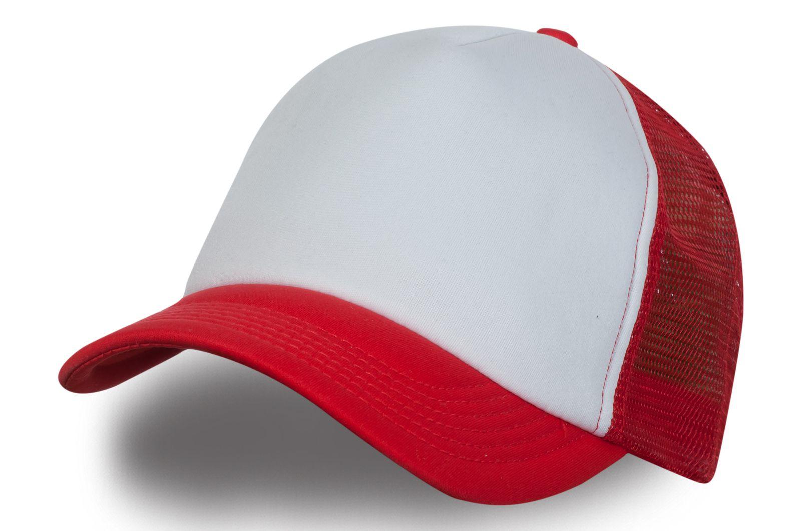 Красно-белая кепка с сеткой - купить в интернет-магазине с доставкой