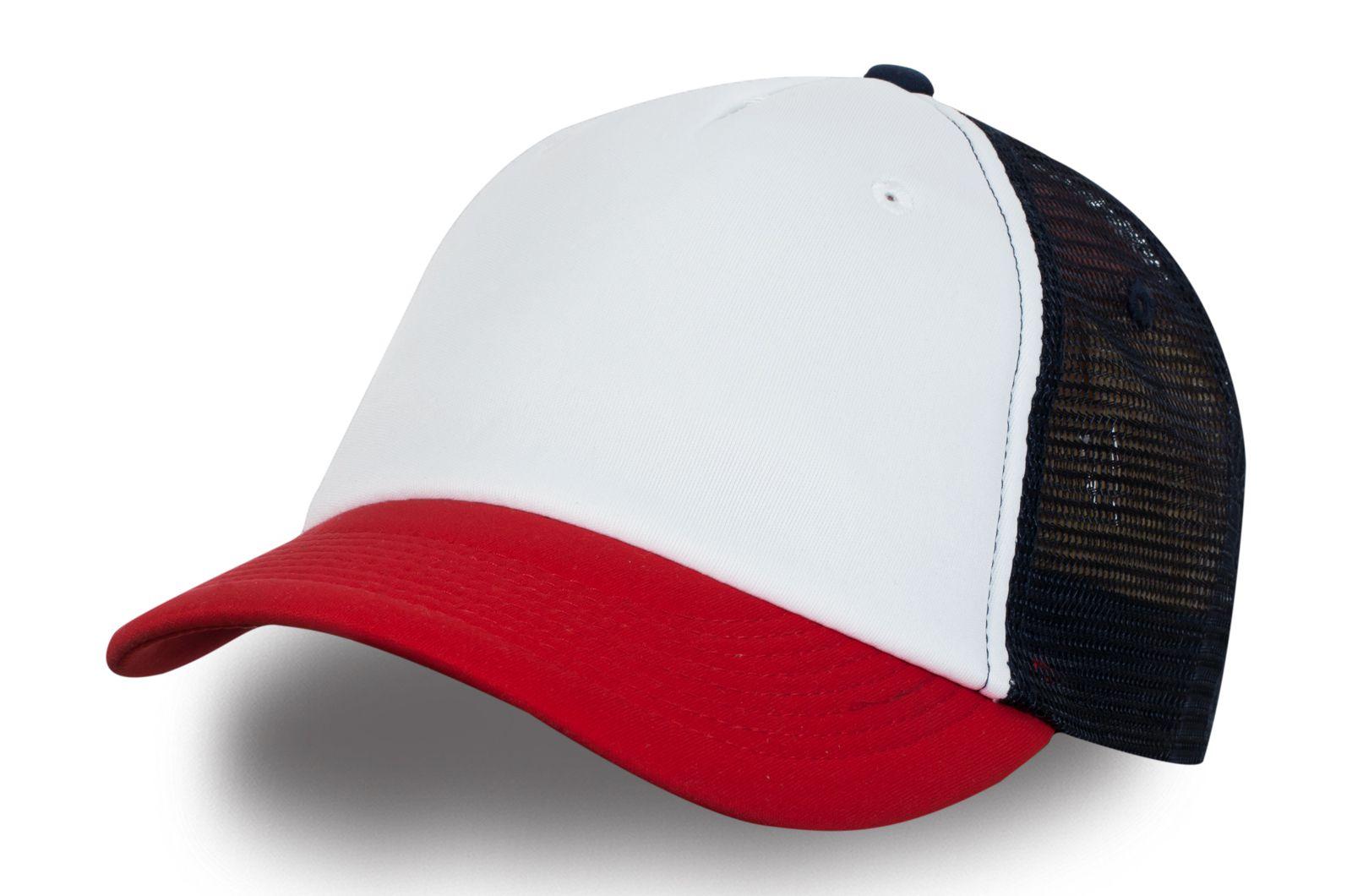 Красно-белая бейсболка - купить в интернет-магазине