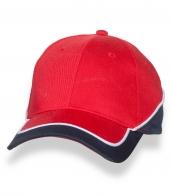 Красно-синяя стильная бейсболка