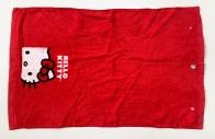 Красное полотенце Хелло Китти