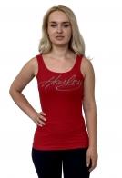 Красная женская майка Harley-Davidson