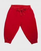 Красные мужские бриджи на манжетах.