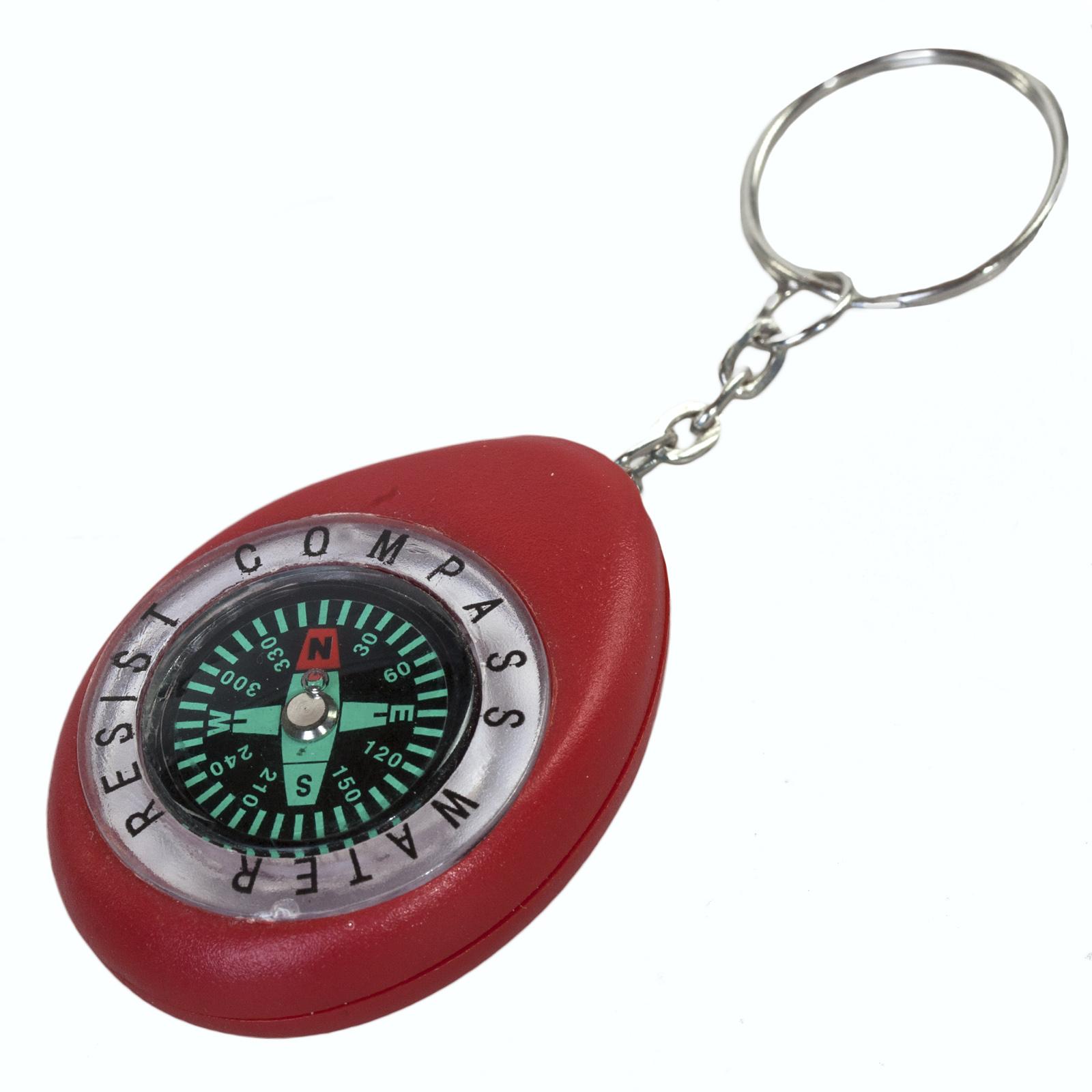Красный брелок с компасом K280