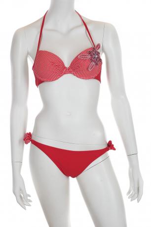 Красный раздельный купальник Феба.