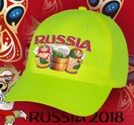 Красочная кепка «Russia» с авторским принтом Матрешки в бане – не просто удобный головной убор, но и уникальный аксессуар. Эксклюзив от Военпро