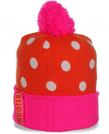 Красочная яркая женская шапка в горошек Hooters праздничный и прелестный новомодный аксессуар