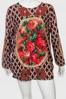 Красочное платье-туника от бренда Long Bao