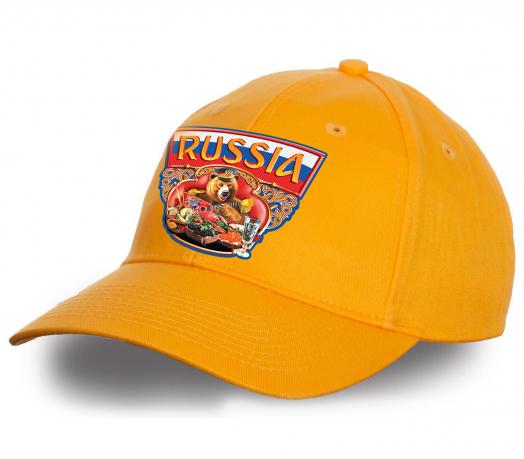 """Креативная бейсболка """"Russia"""". Авторский вариант из натурального хлопка в актуальном стиле. Достойное качество, лучшая цена!"""