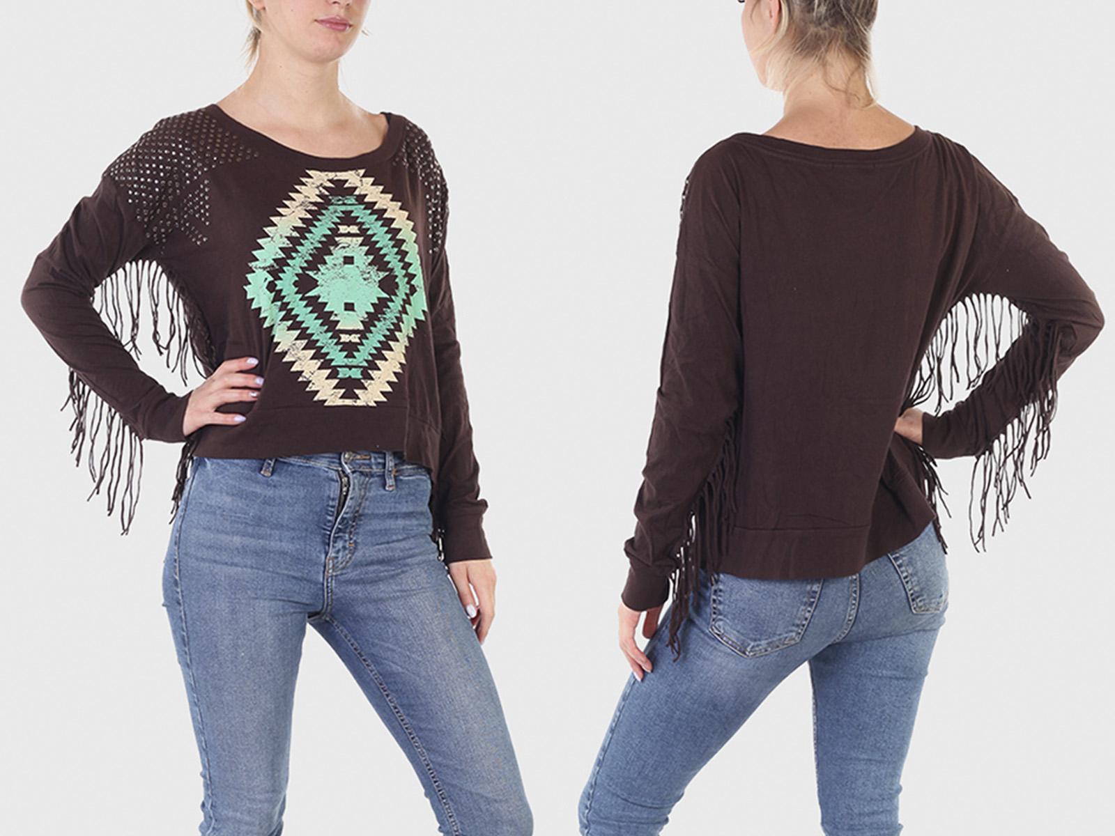 Креативная женская кофта-свитер Rock and Roll Cowgirl