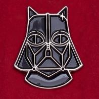 """Креативный значок на тему Звездных войн """"Кот Вейдер"""""""