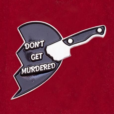 """Креативный значок с разбитым сердечком для поклонников подкаста """"Мое любимое убийство"""""""