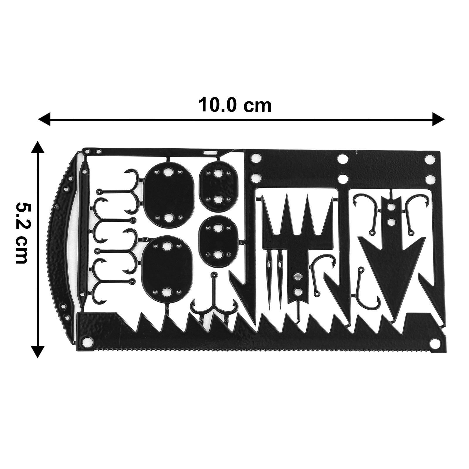 Кредитка-мультитул выживания 25-в-1 (черная)