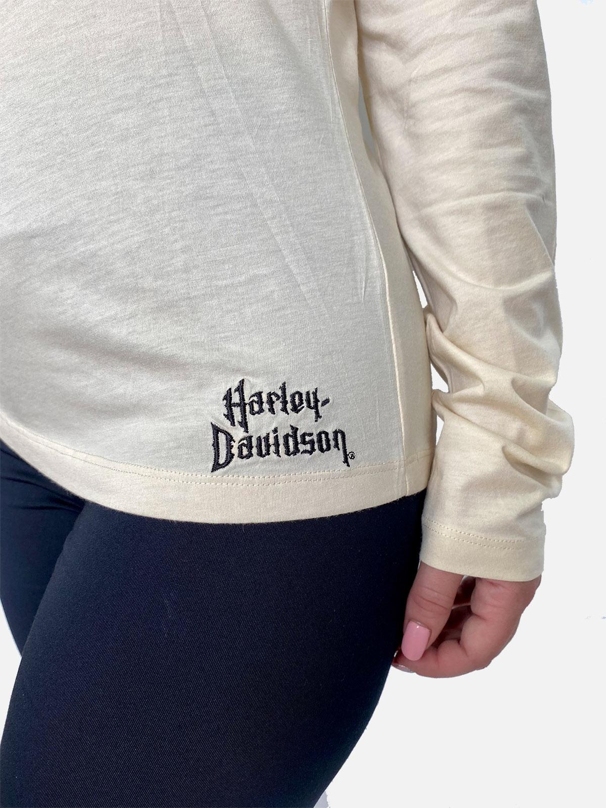 Кремовая женская кофта Harley-Davidson