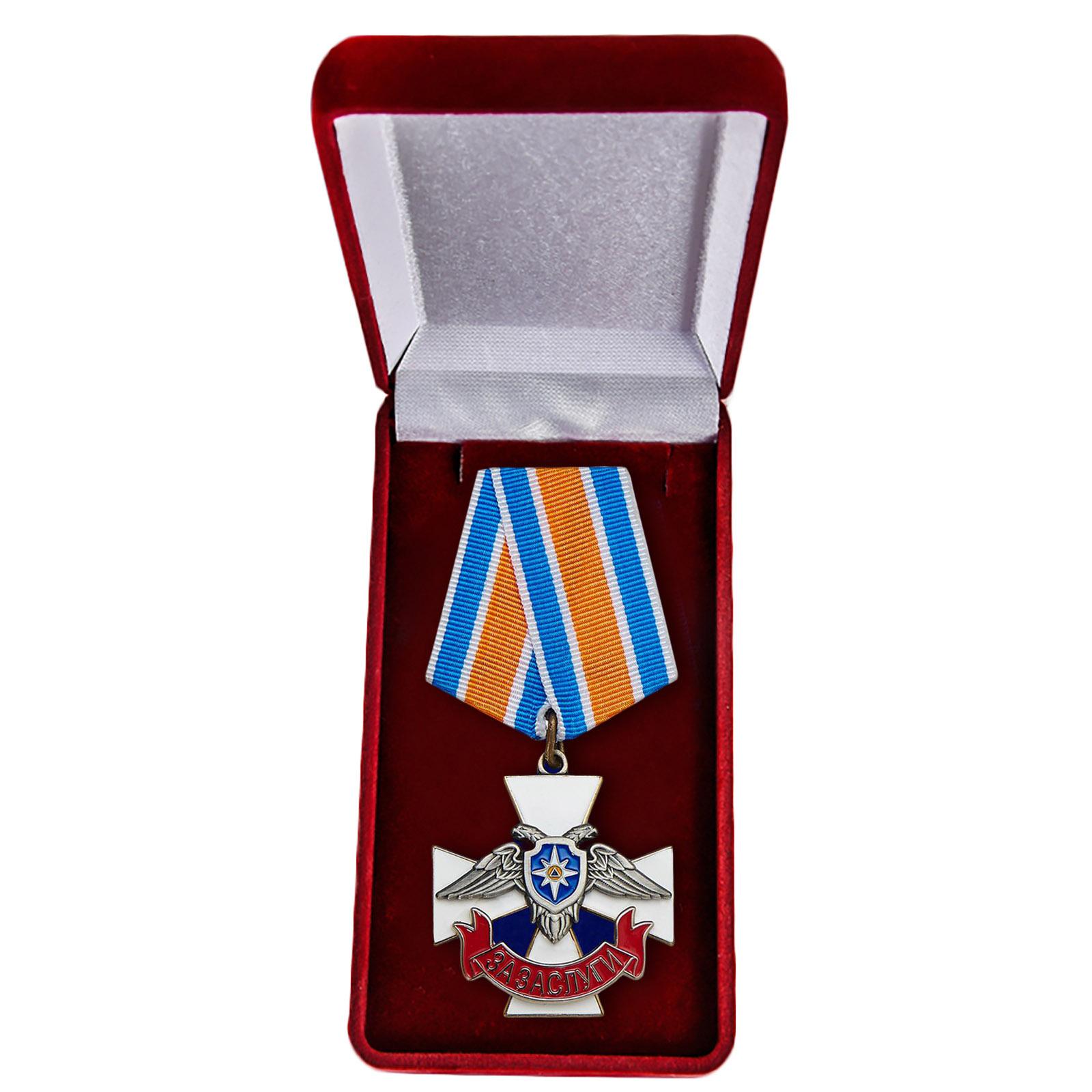 """Крест МЧС ДНР """"За заслуги"""" - в футляре"""