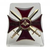 """Крест """"За службу на Кавказе"""" (красный) на подставке"""