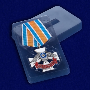 Крест За заслуги МЧС ДНР в пластиковом футляре