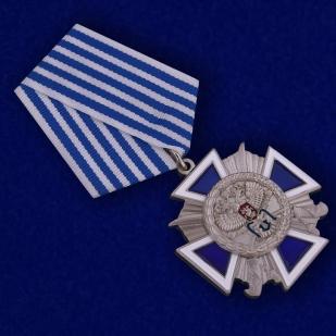 """Крест """"За заслуги перед казачеством"""" 4 степень в бордовом футляре с прозрачной крышкой - общий вид"""