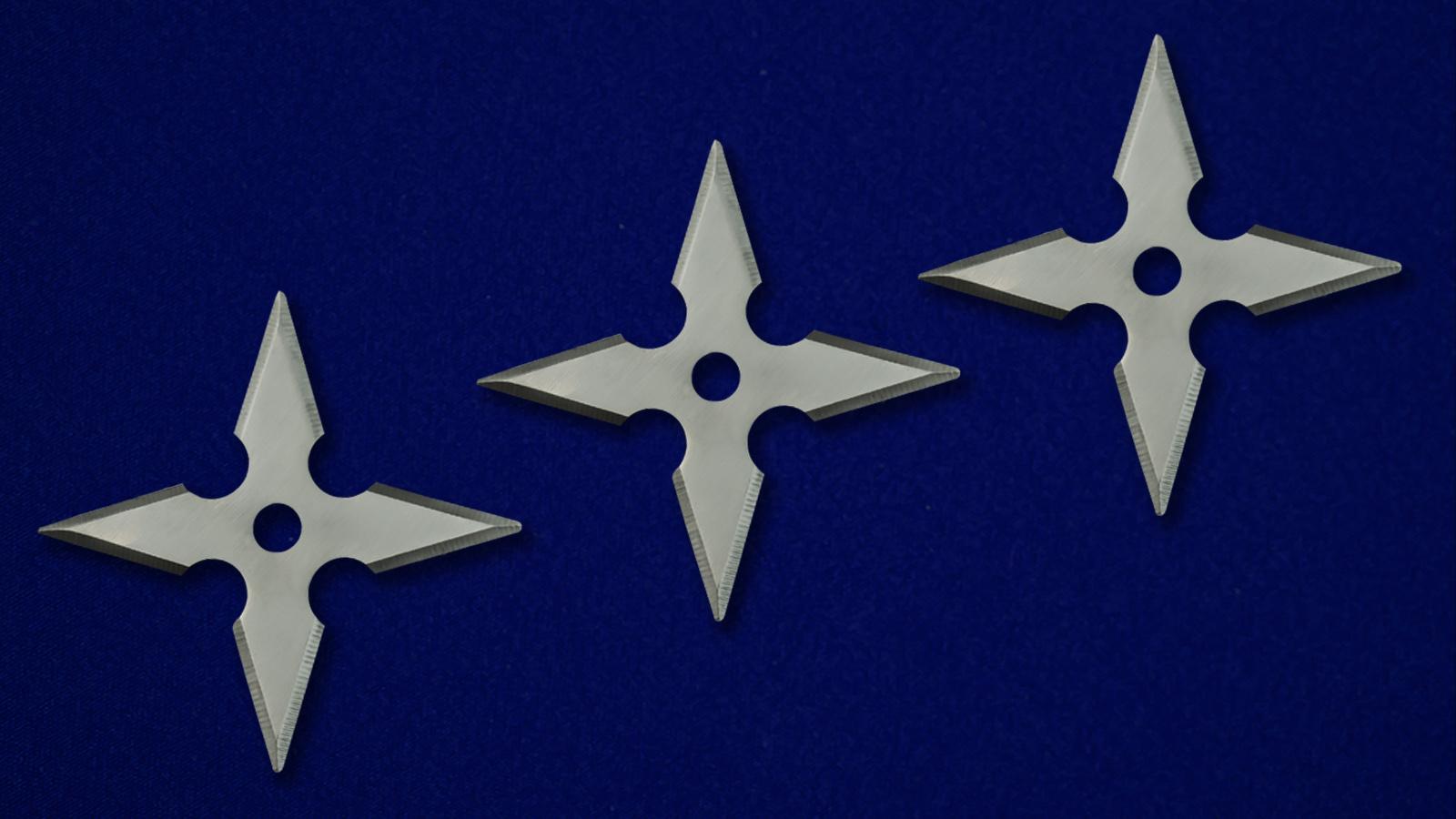 Крестообразные сюрикены металлические от Военпро