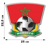 Крутая автонаклейка болельщику Morocco