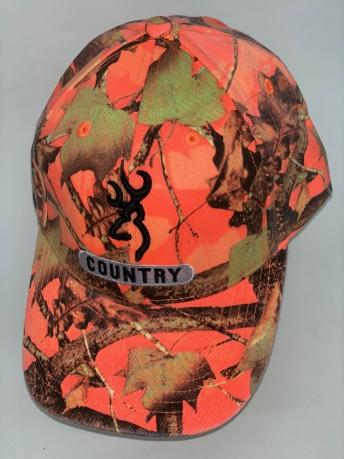 Крутая бейсболка Browning цвета оранжевый камуфляж
