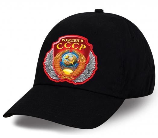Крутая бейсболка с принтом «Рожден в СССР»