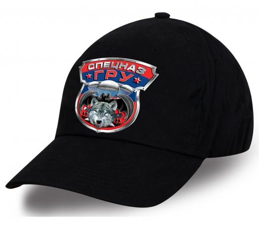 Крутая черная  бейсболка с яркой авторской эмблемой «Спецназ ГРУ». Высокое качество по низкой цене. Покупай не задумываясь, никогда не пожалеешь!