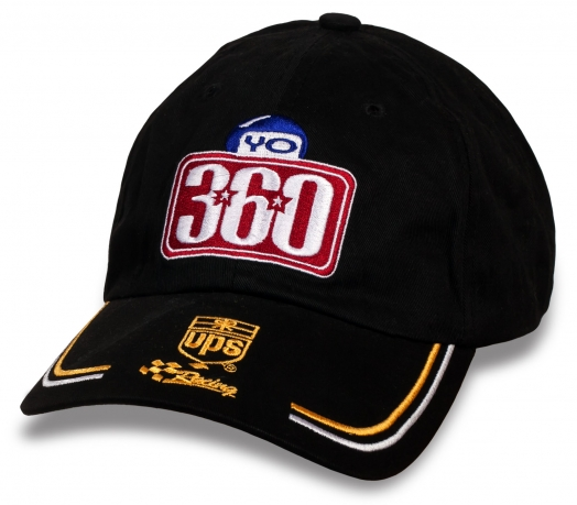 Крутая черная бейсболка YO 360