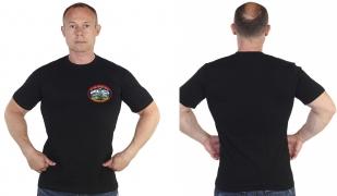 Крутая черная футболка с термонаклейкой 177 Полк Морской Пехоты