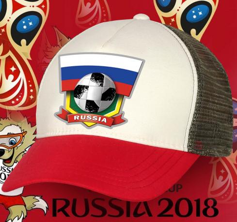 Крутая фанатская бейсболка Russia