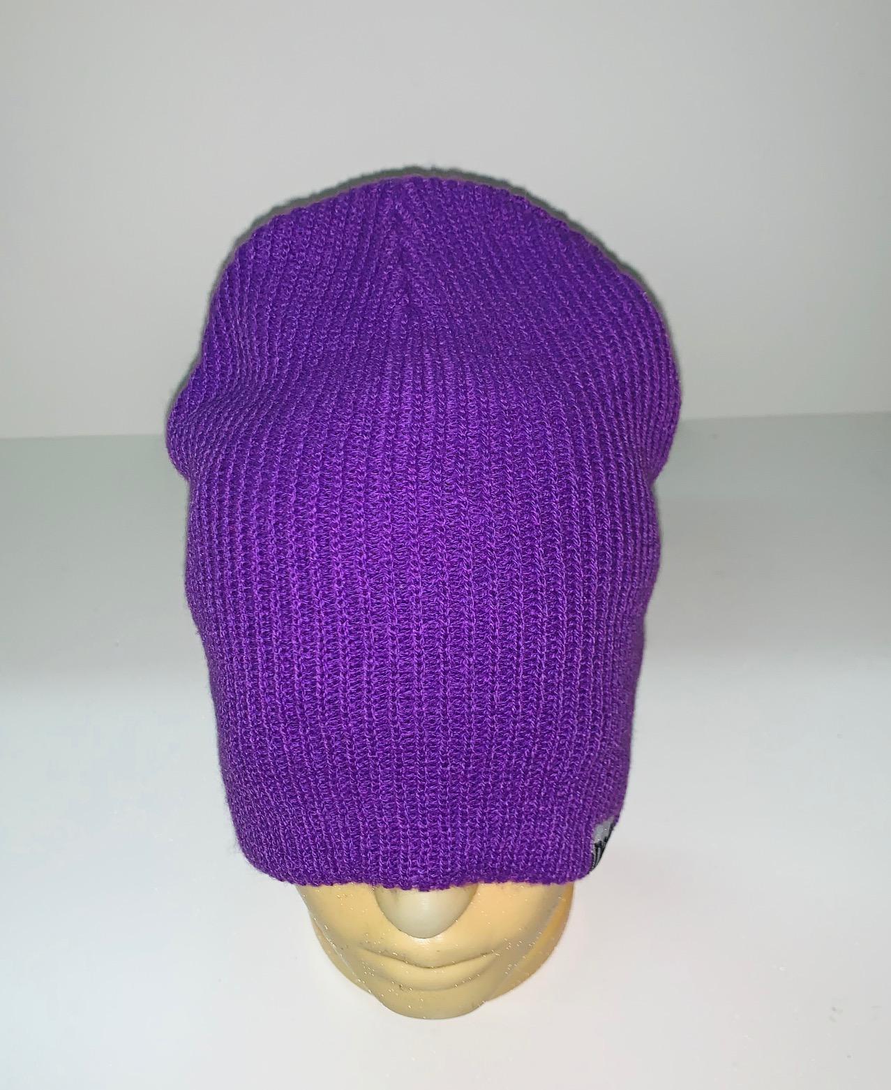 Крутая фиолетовая шапка