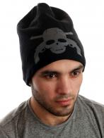 Крутая флисовая шапка с черепом