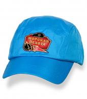 Крутая голубая бейсболка с термотрансфером Морская Пехота