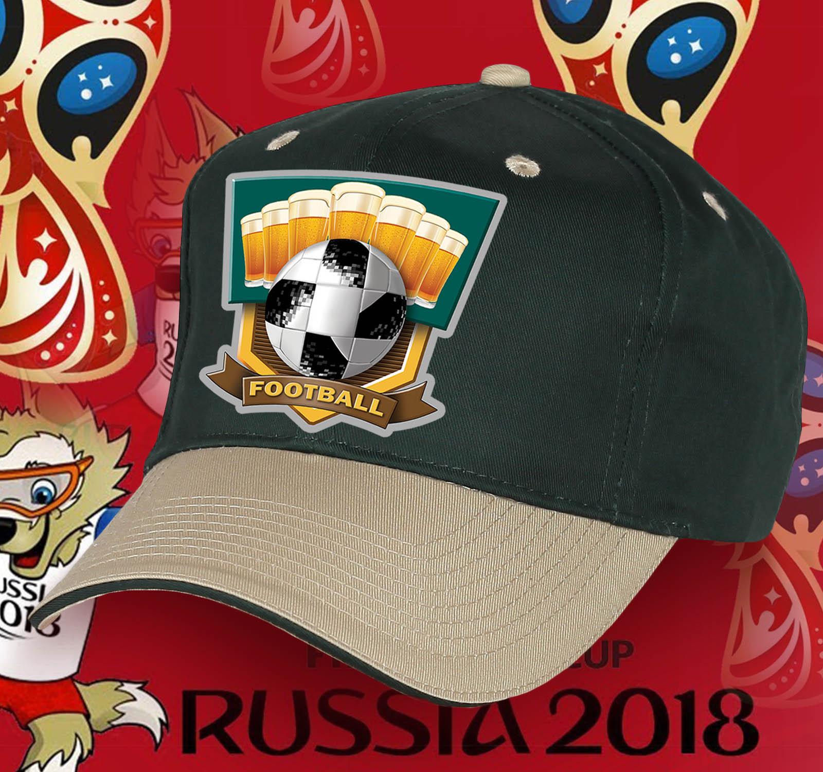 Крутая кепка Football с мячом