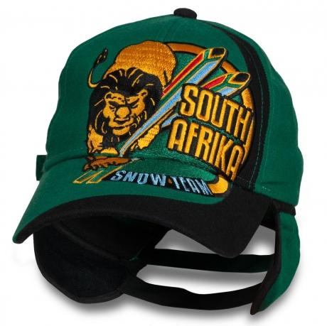 Крутая кепка с защитой ушей South Africa Snow Team.