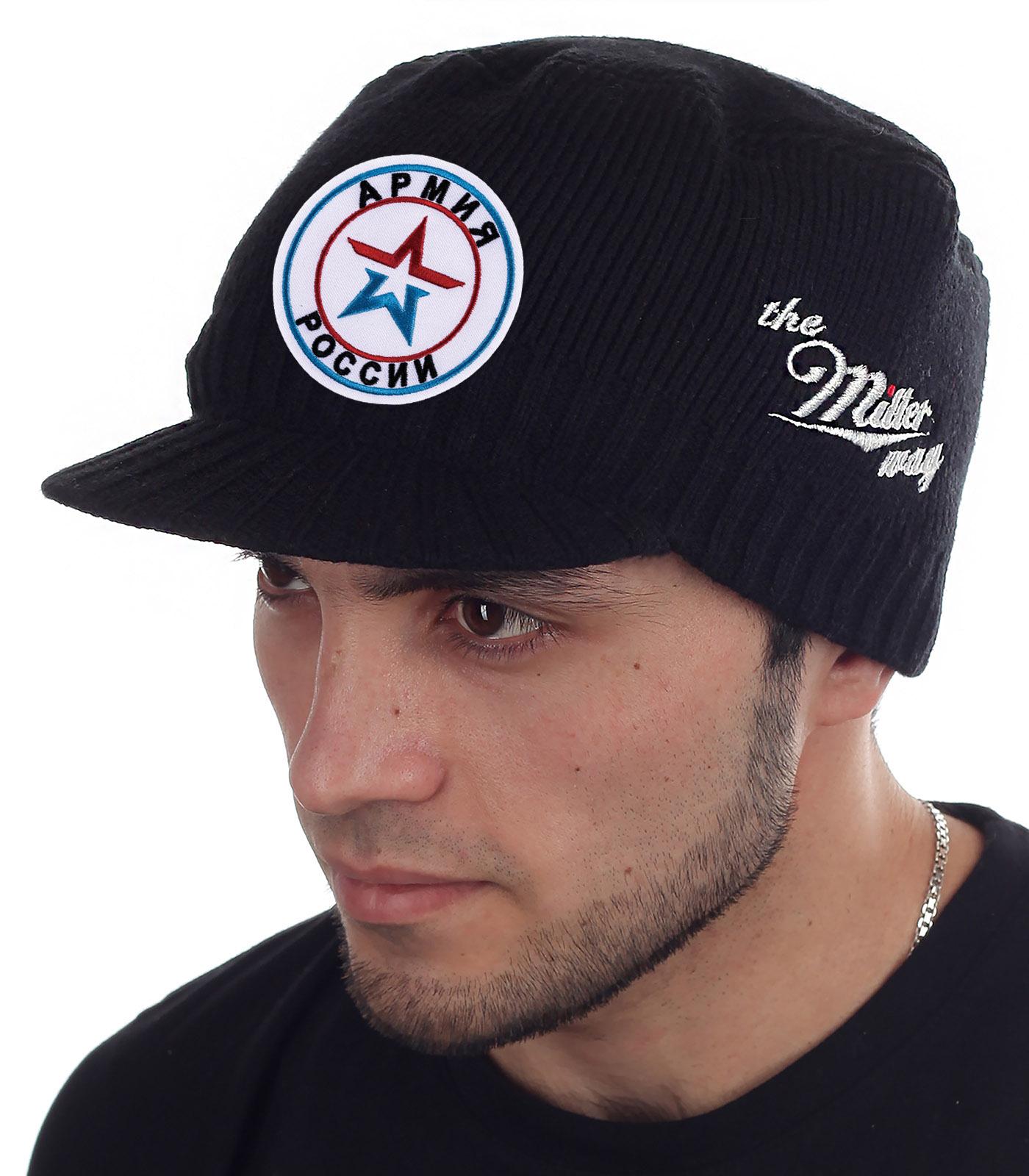 Крутая кепка-шапка Miller Way с нашивкой Армия России - купить с доставкой