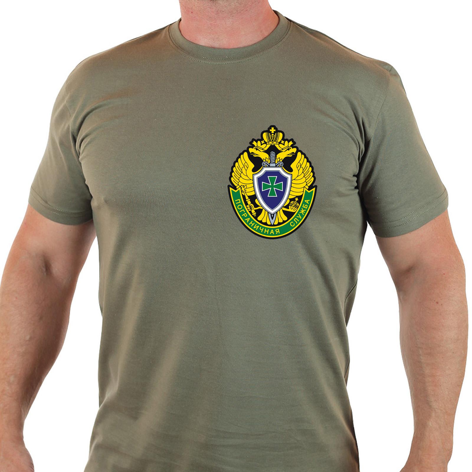 "Крутая милитари футболка ""Пограничная служба"""