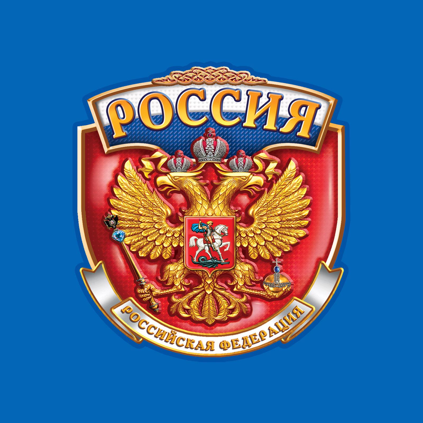 Крутая мужская футболка РОССИЯ