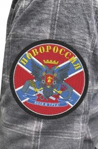 Крутая мужская рубашка с вышитым флагом и гербом Новороссии - купить по низкой цене